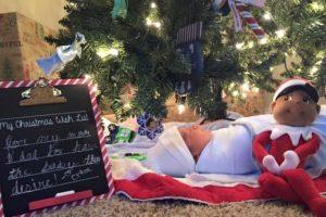 """Él se llama Nathan. Y fue el """"regalo de Navidad"""" para sus hermanas. Foto: vía Facebook/Court4jc. Imagen Por:"""