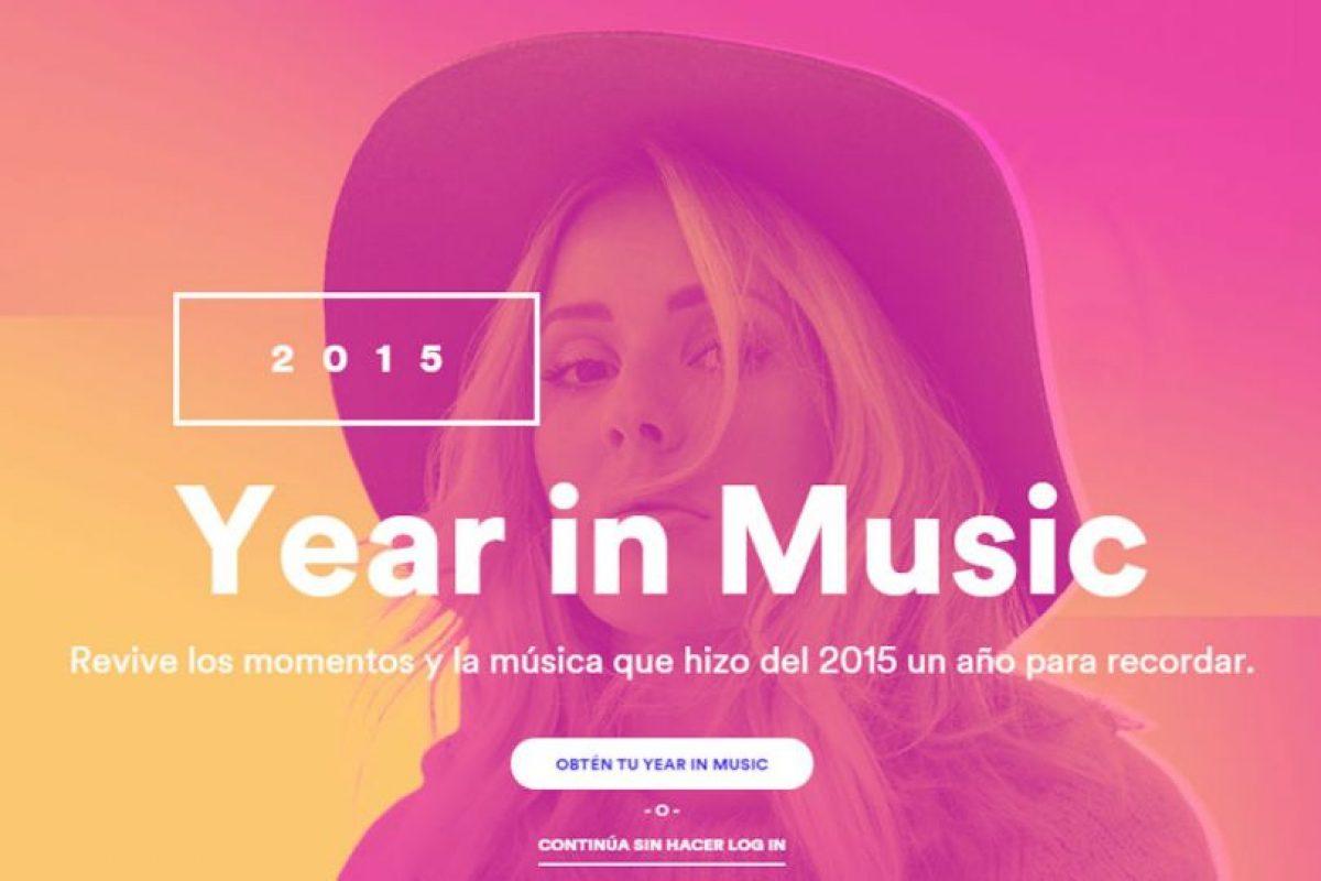 """""""Year In Music"""" les dice todo lo que hicieron en Spotify durante el año. Foto:Spotify. Imagen Por:"""