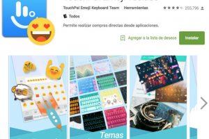 8.- TouchPal Emoji Keyboard es un teclado emoji gratuito para teléfonos Android que te ayuda a ingresar de forma rápida más de 1000 emojis, emoticonos, smileys y caras de texto cómodamente en todas partes, como Twitter, WhatsApp, Facebook, WeChat y Line. Foto:Google Play. Imagen Por: