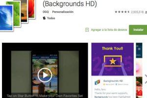 9.- Fondos HD es la aplicación de fondos de pantalla número 1 del Mundo, amada por más de 80 millones de usuarios alrededor del mundo! Foto:Google Play. Imagen Por: