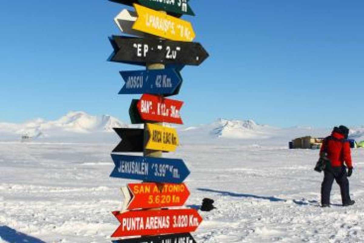 """Los chilenos instalaron una """"Rosa de los Vientos"""" en plena Antártica Foto:Jaime Liencura / Publimetro. Imagen Por:"""