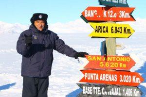 """El ministro José Antonio Gómez en """"La Rosa de los Vientos"""" de la Antártica. Foto:Jaime Liencura / Publimetro. Imagen Por:"""