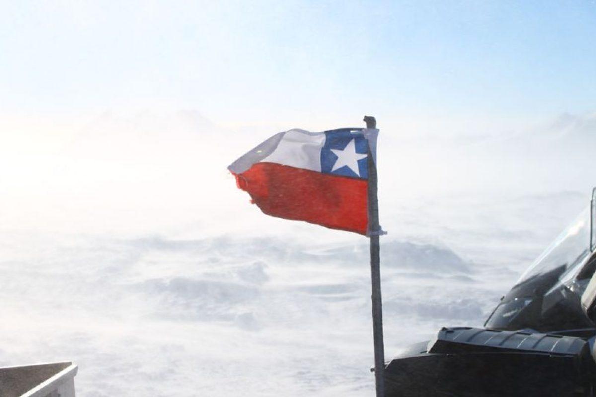 Y cuando lo hace, flamea la bandera chilena Foto:Jaime Liencura / Publimetro. Imagen Por: