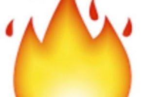 10- Fuego. Foto:vía emojipedia.org. Imagen Por: