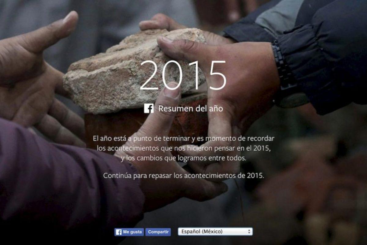 Facebook presentó lo más popular durante 2015. Foto:vía Facebook.com. Imagen Por:
