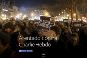 8- Atentado contra Charlie Hebdo. Foto:vía Facebook.com. Imagen Por:
