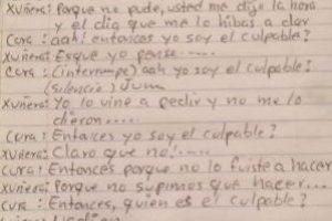 En redes sociales circula el supuesto diálogo que sostuvo el cura con la joven. Fue traducido del maya al español. Foto:Captura de pantalla. Imagen Por:
