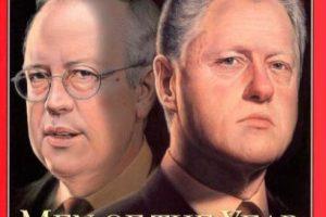 1998: Kenneth Starr y Bill Clinton Foto:Vía Time. Imagen Por:
