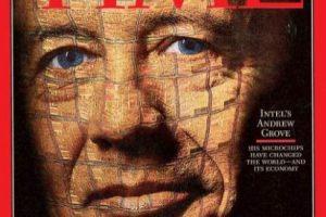 1997- Andrew Grove. El entonces CEO de Intel fue escogido por los microchips que fabricaba la empresa. Foto:Vía Time. Imagen Por:
