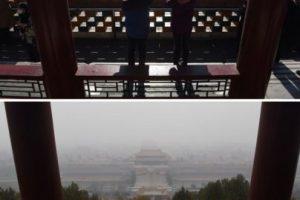 Antes y después, así luce Beijing con menos contaminación Foto:AFP. Imagen Por: