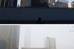 También así lucía el Centro Financiero de Beijing Foto:AFP. Imagen Por:
