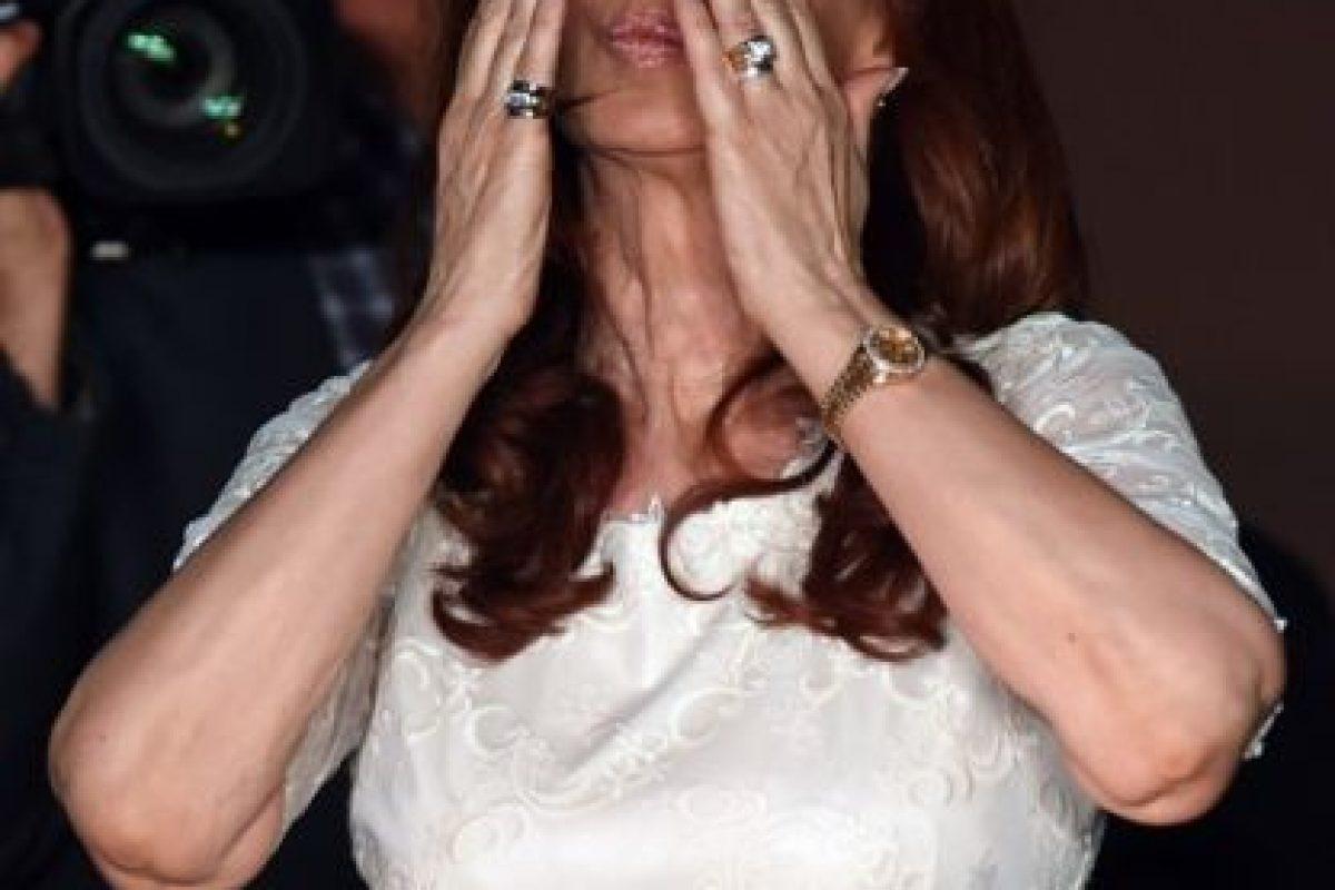 Ella ayer tuvo su último evento con simpatizantes como presidenta Foto:AFP. Imagen Por: