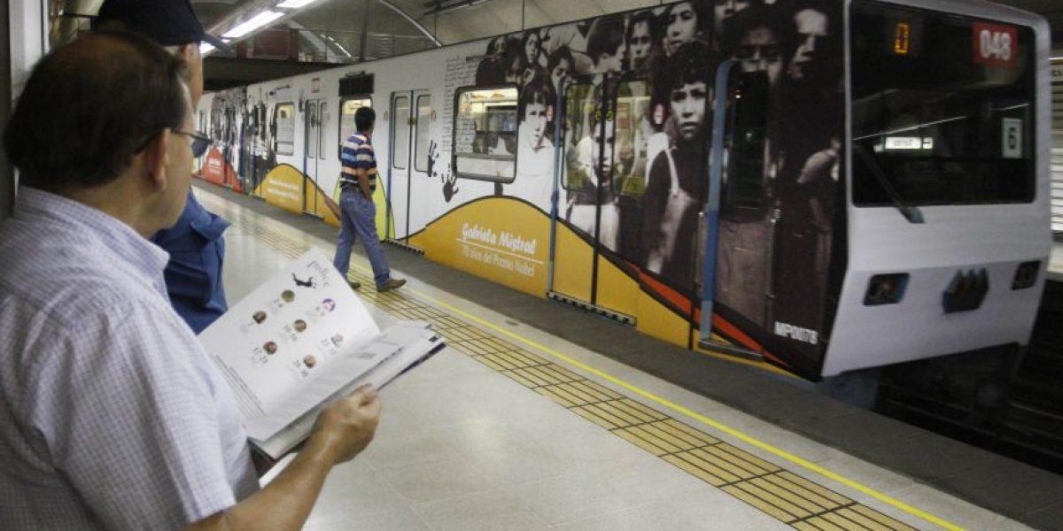 Tren de metro viajará con vida y obra de Mistral a 70 años de su nobel