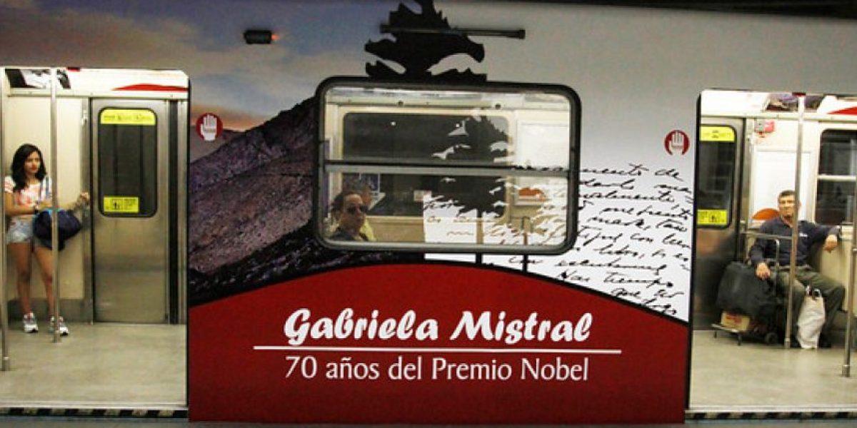 Metro se suma a conmemorar los 70 años del Nobel de Gabriela Mistral