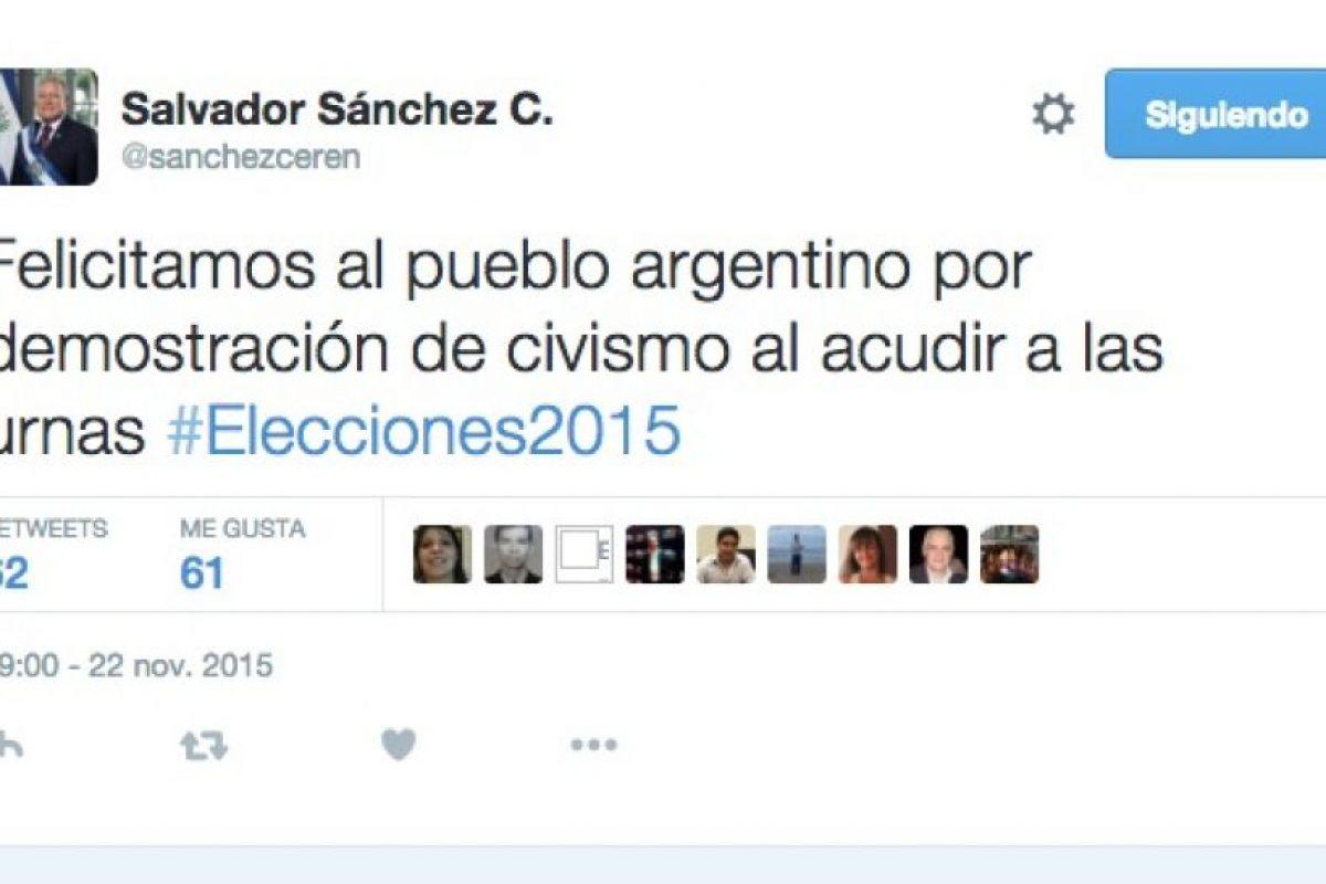 Salvador Sánchez Cerén, presidente de Honduras Foto:Twitter.com. Imagen Por: