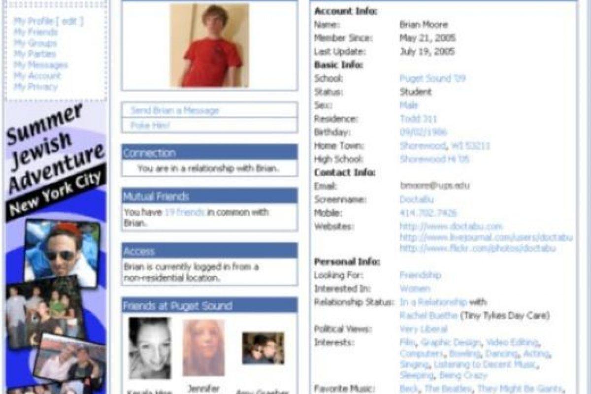 2005. Las comparaciones con MySpace no se hicieron esperar. Foto:vía Facebook.com. Imagen Por: