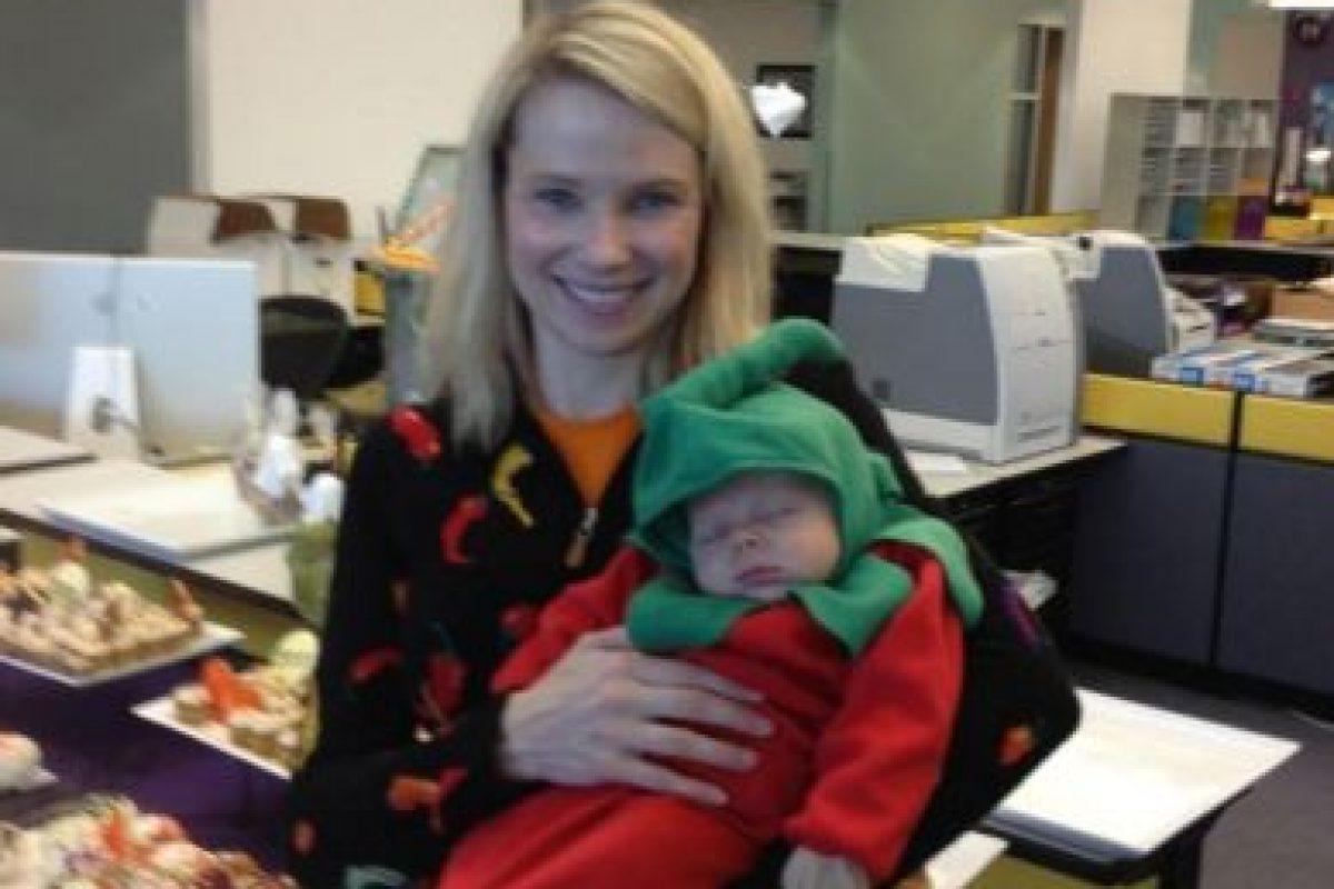 Marissa ya era madre de un niño de tres años de edad. Foto:twitter.com/marissamayer. Imagen Por: