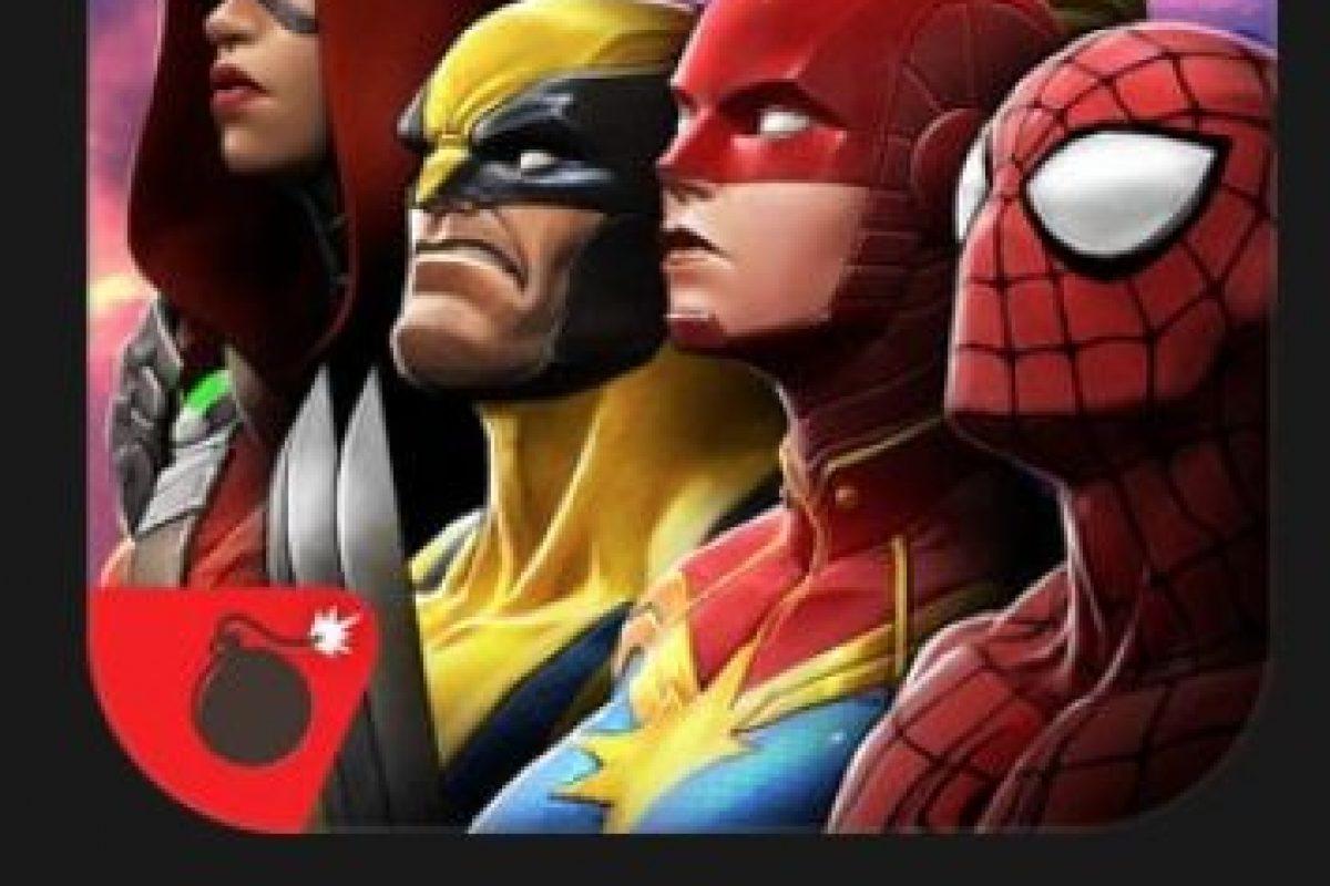 """12- """"MARVEL Batalla de Superhéroes"""". ¡Iron Man vs. Capitán América! ¡Hulk vs. Lobezno! ¡Drax vs. Deadpool! ¡Los combates más épicos del universo Marvel por fin en sus manos! Foto:vía Apple. Imagen Por:"""