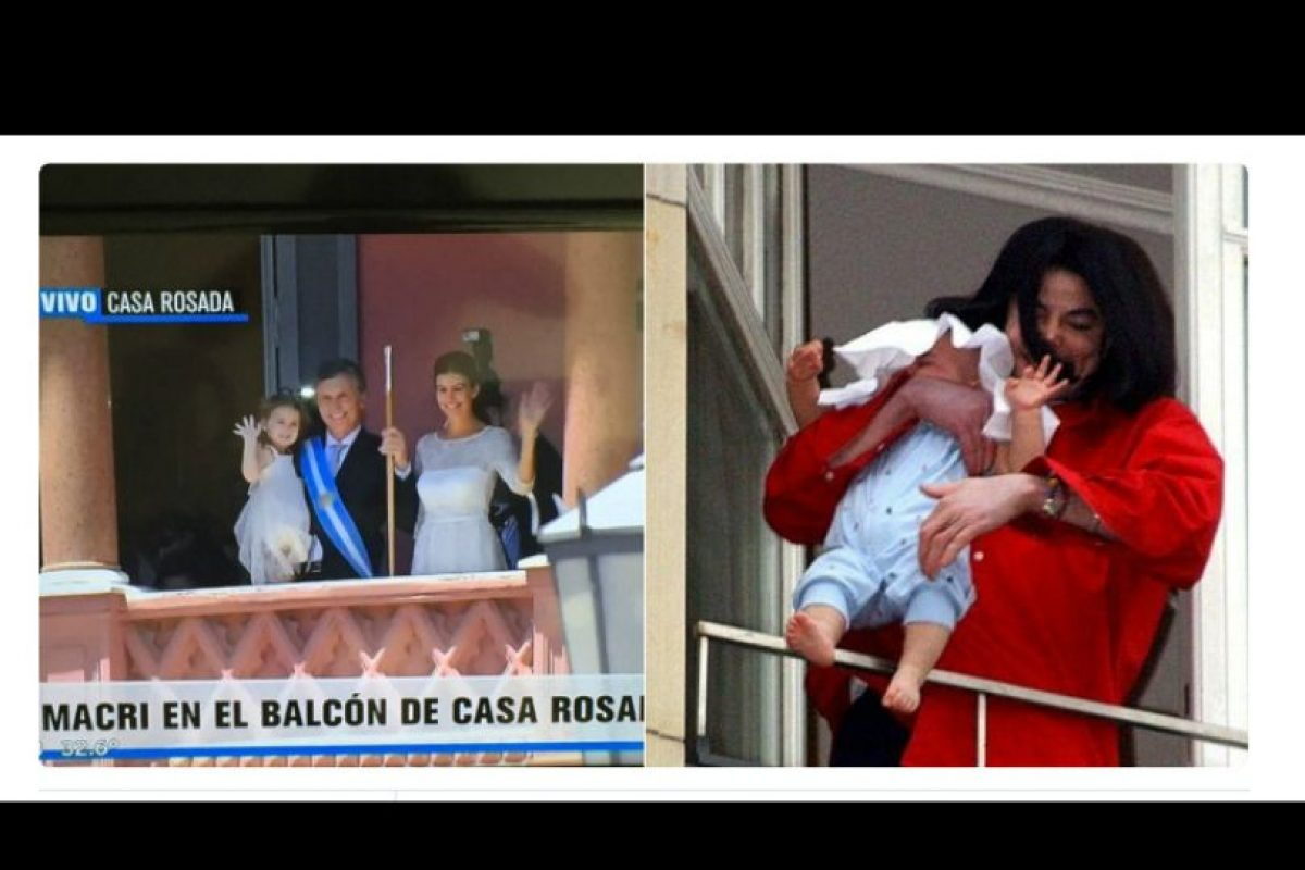 Se burlaron de la presentación de su familia en el balcón de la Casa Rosada Foto:Twitter.com. Imagen Por: