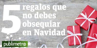 Infografía: 5 regalos que no debes obsequiar en navidad