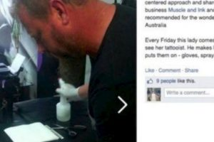 Este tatuador pinta todos los jueves a una mujer con Síndrome de Down. Foto:vía Facebook. Imagen Por: