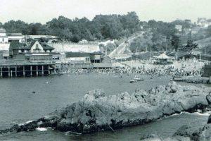 Balneario Las Torpederas de Valparaiso en 1945. Foto:Fotos Históricas de Chile. Imagen Por: