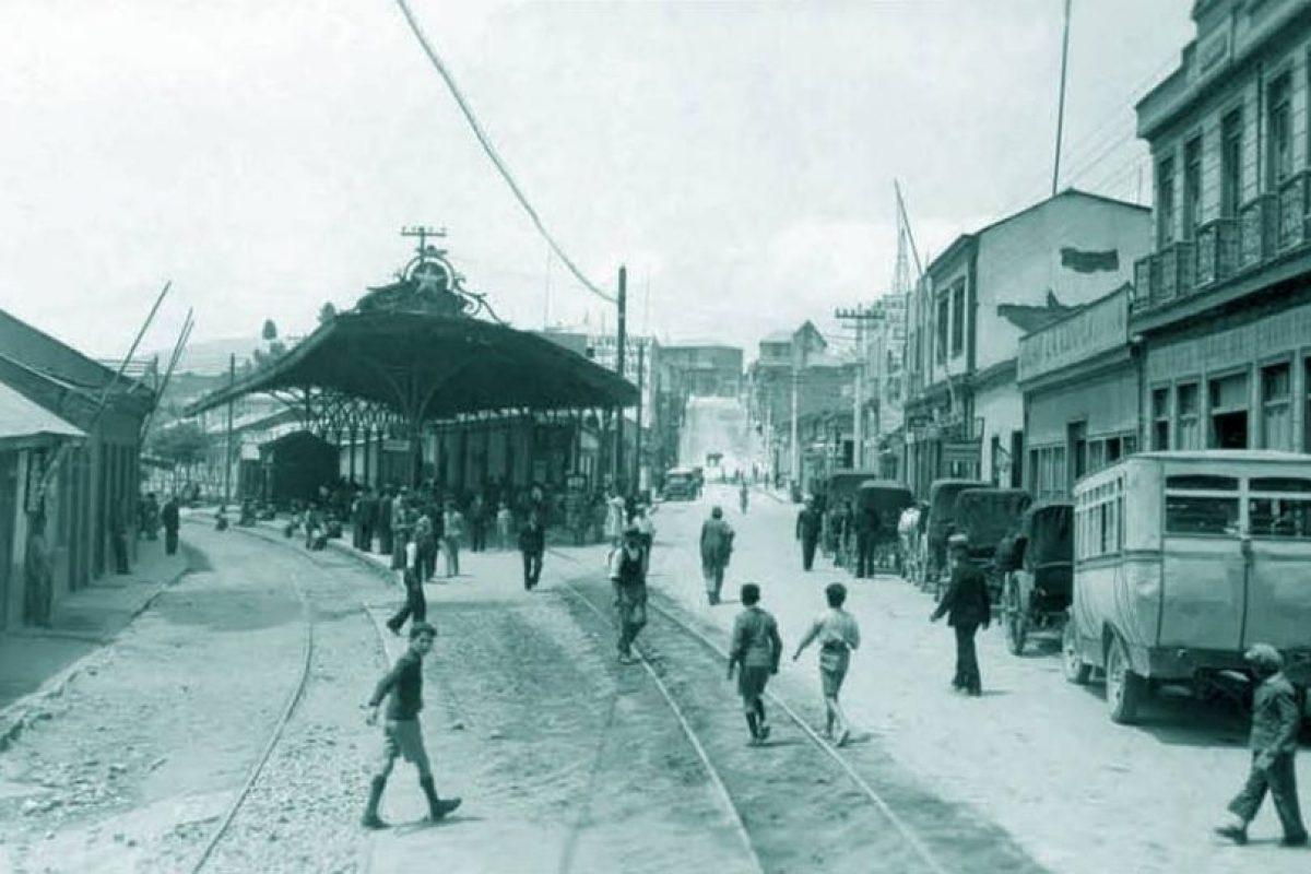 Estación de Ferrocarriles de Coquimbo en 1920. Foto:Fotos Históricas de Chile. Imagen Por: