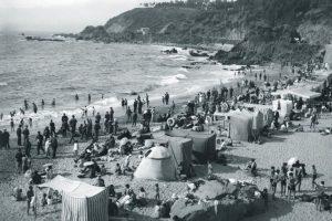 Balneario Las Salinas de Viña del Mar, 1930. Foto:Fotos Históricas de Chile. Imagen Por: