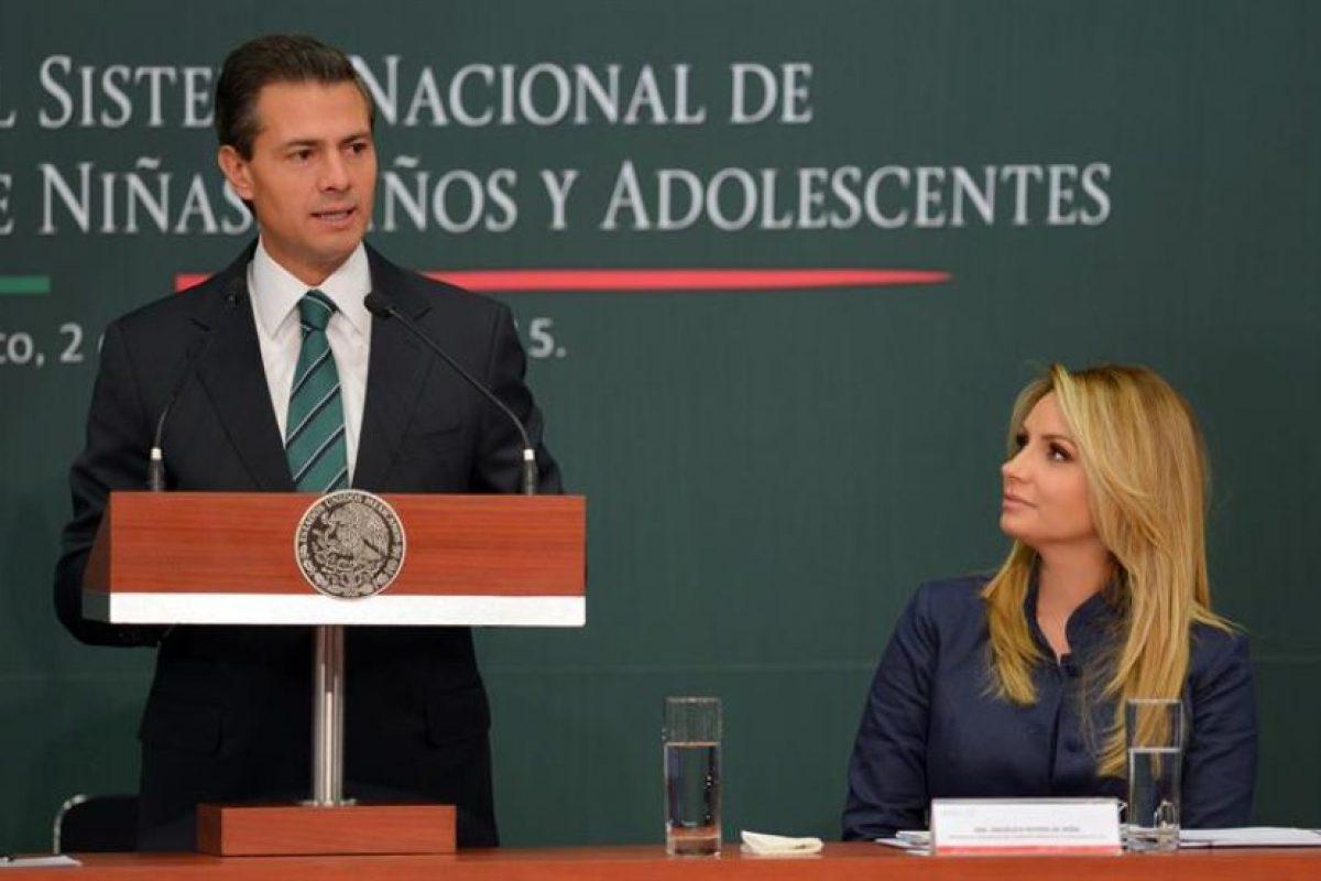 Enrique Peña Nieto, presidente de México, en un discurso sobresu postura contraria a la legalización de la marihuana en ese país. Foto:Efe. Imagen Por: