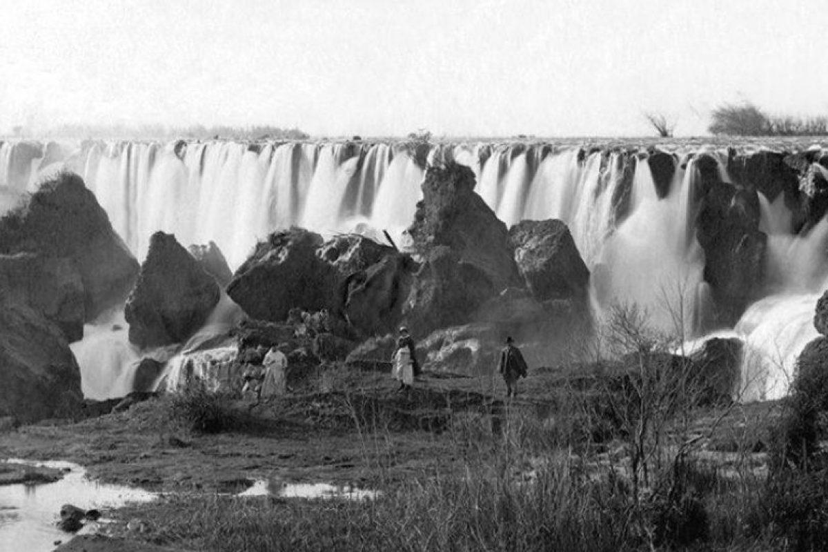 Vista del Salto del Laja, 1910. Foto:Fotos Históricas de Chile. Imagen Por: