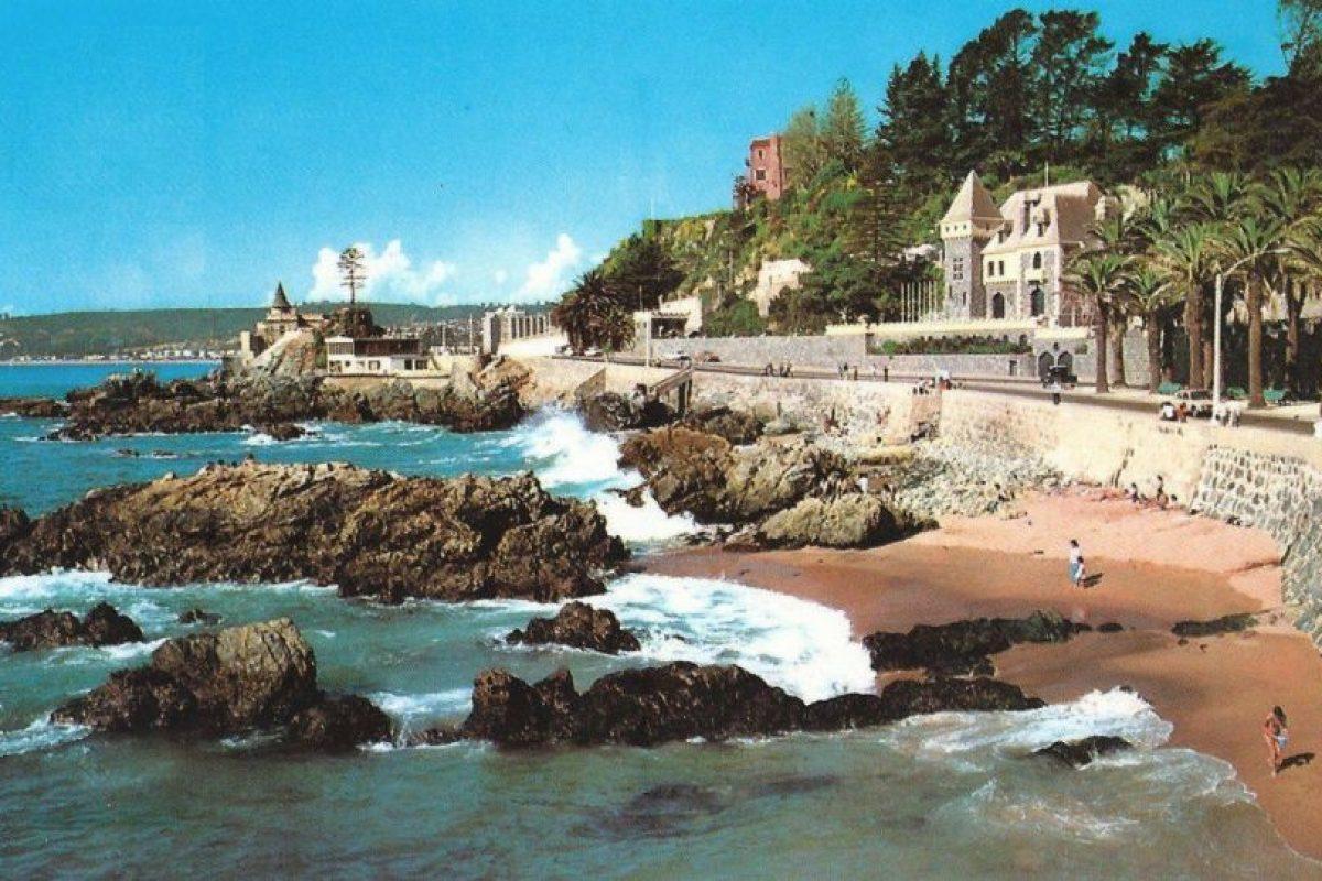 Avenida La Marina de Viña del Mar en 1982. Foto:Fotos Históricas de Chile. Imagen Por: