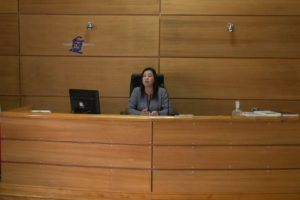 La jueza del tribunal Foto:Captura: Poder Judicial. Imagen Por: