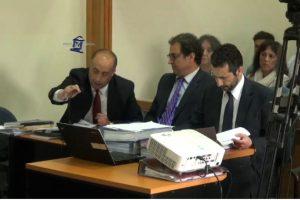 El querellante Sergio Coronado y el equipo del Ministerio Público Foto:Captura: Poder Judicial. Imagen Por: