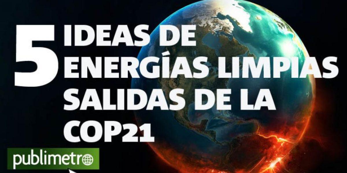 Infografía: 5 ideas de energías limpias salidas de la COP 21