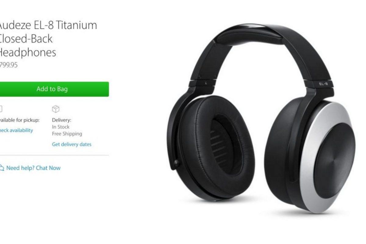 Audeze EL-8 Titanium Closed-Back Headphones cuestan casi 800 dólares. Foto:Apple. Imagen Por: