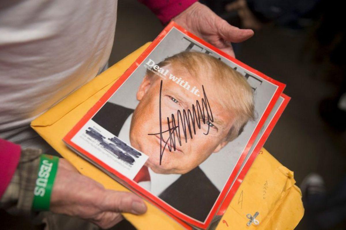 A favor y en contra, estas son las imágenes más destacadas de los actos de campaña de Donald Trump Foto:Getty Images. Imagen Por: