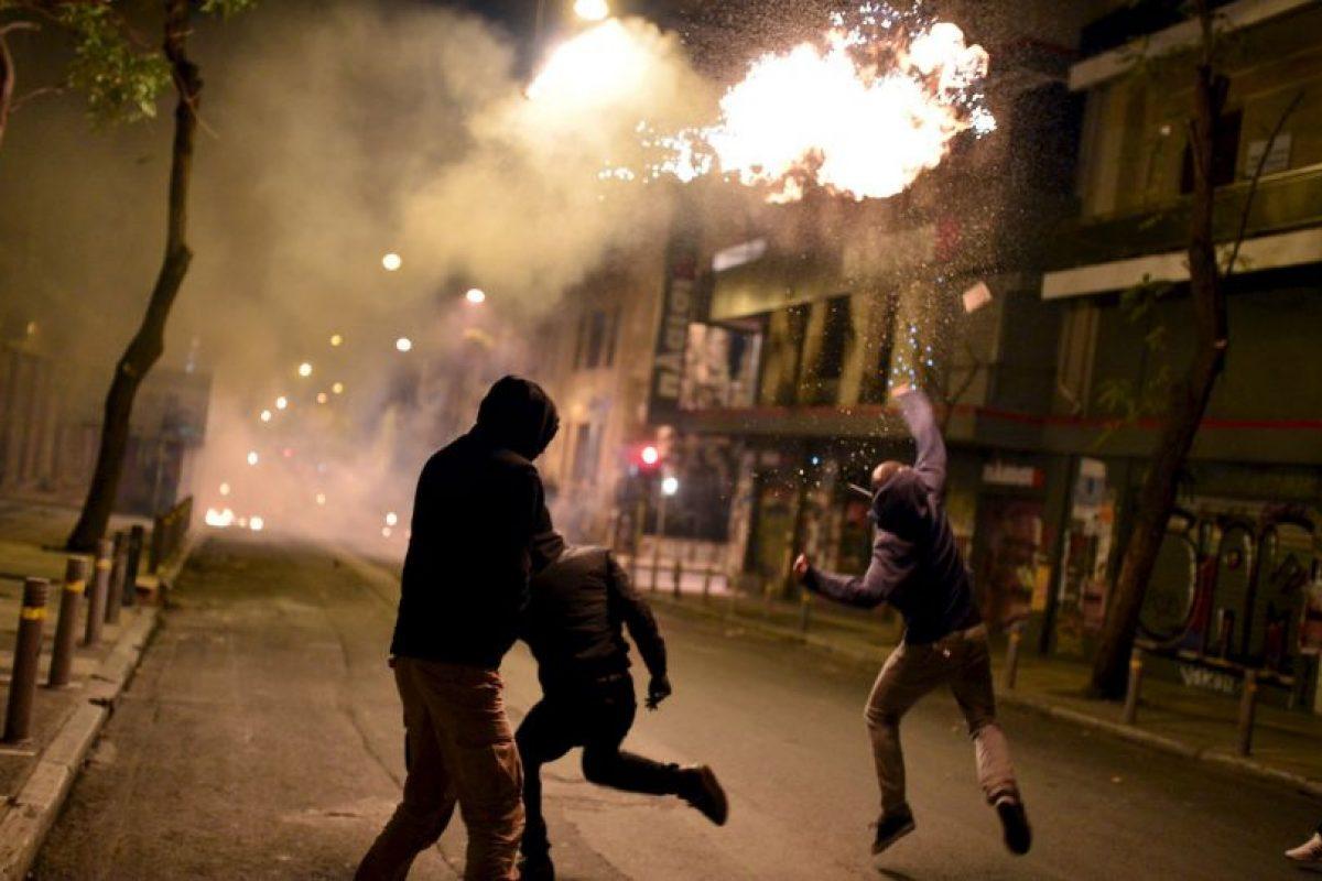 Manifestantes en Grecia. Foto:AFP. Imagen Por: