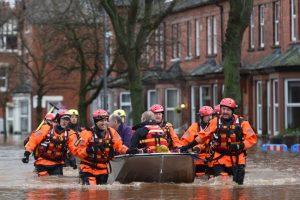 Inundaciones en Inglaterra. Foto:AFP. Imagen Por: