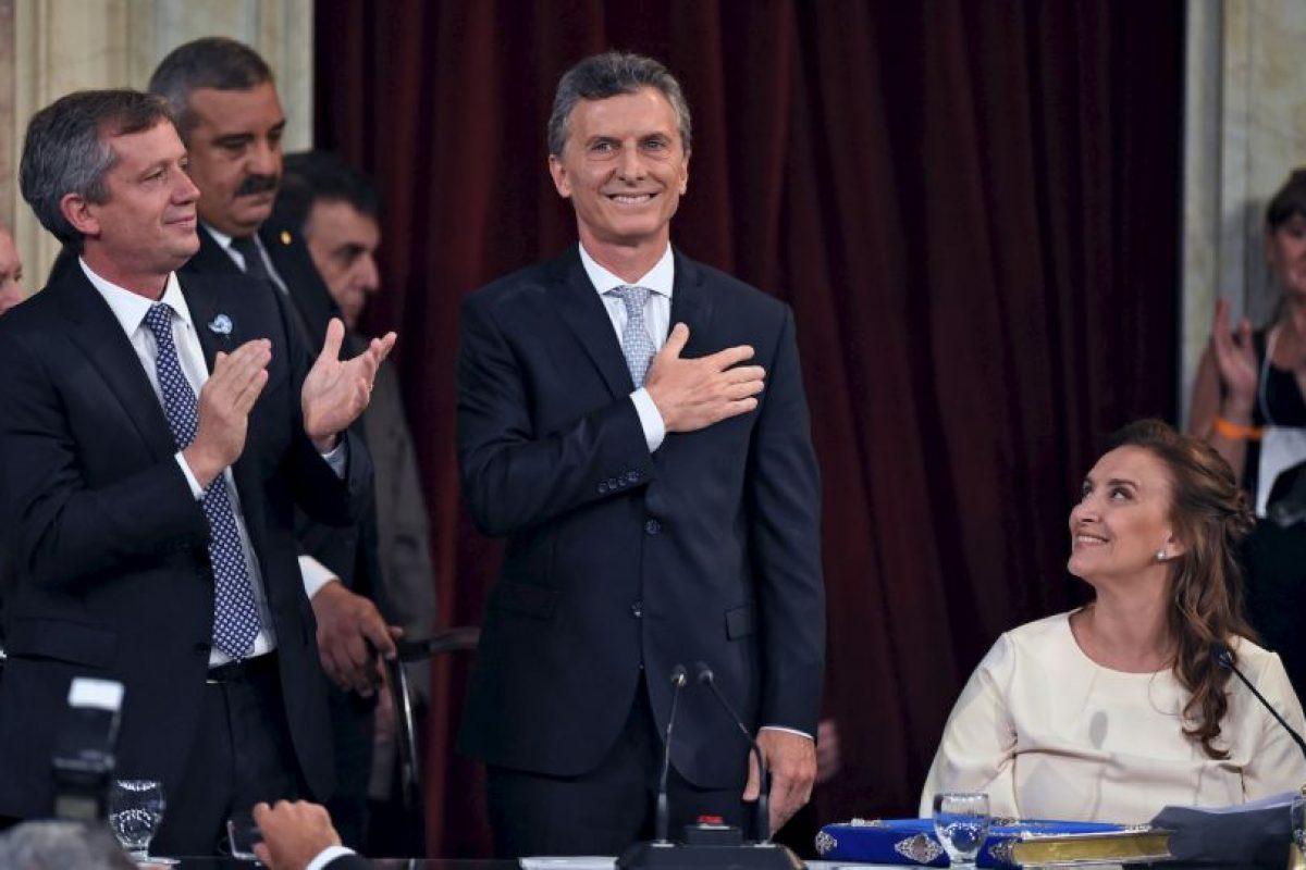 Mauricio Macri, en su ceremonia de toma de posesión como presidente de Argentina. Foto:AFP. Imagen Por: