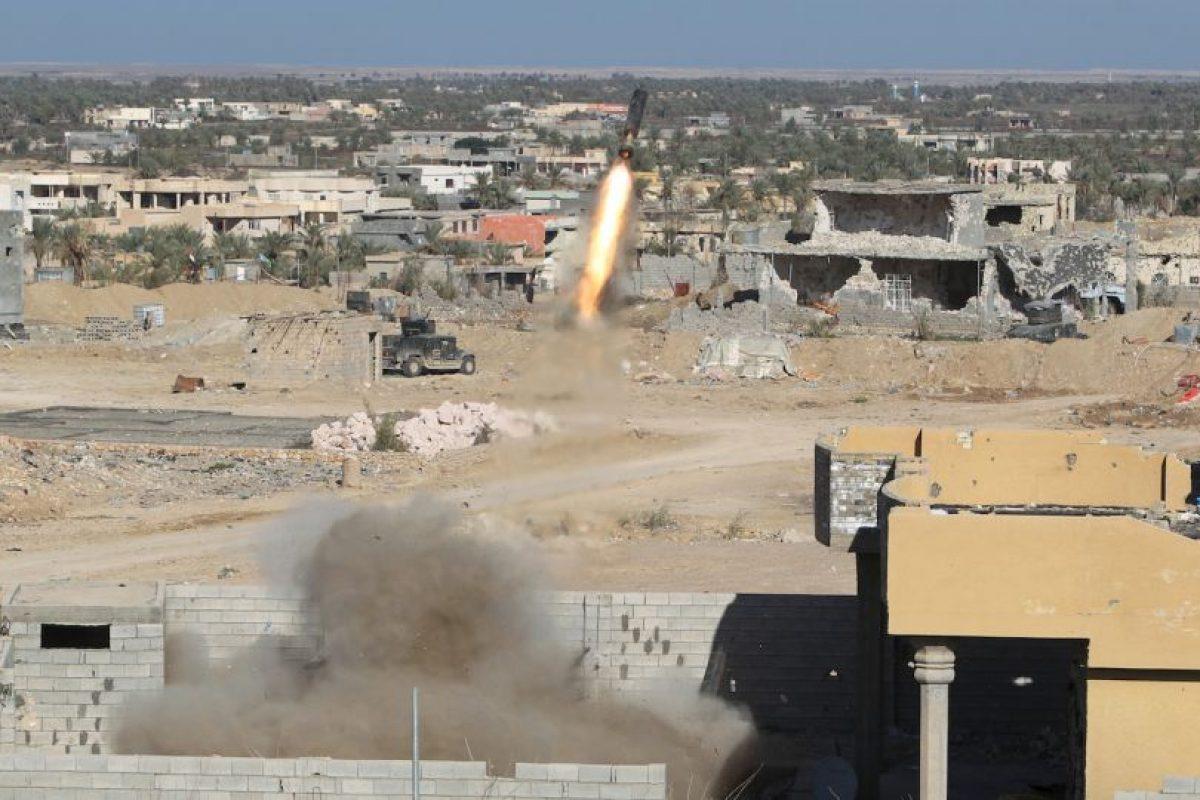 Fuerzas iraquíes bombardean al grupo terrorista Estado Islámico. Foto:AFP. Imagen Por: