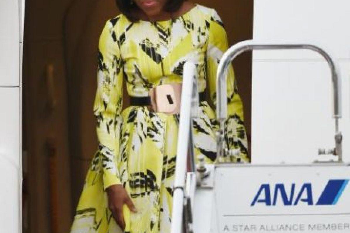 A veces también usa ropa de diseñadores latinoamericanos. En la posesión de su marido lució un atuendo de Isabel Toledo. Foto:Sin embargo ella ha demostrado que en cualquier ocasión sabe que usar.. Imagen Por: