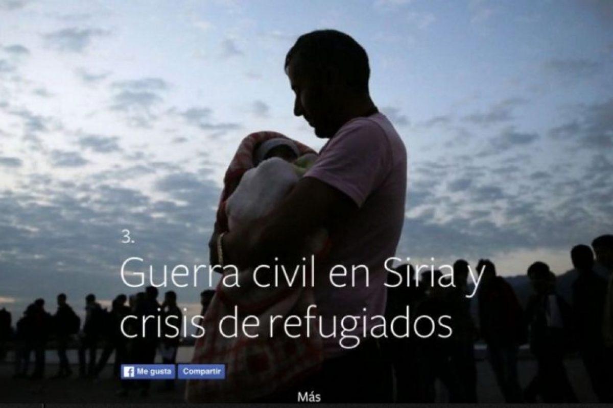 3- Guerra civil en Siri y crisis de refugiados. Foto:vía Facebook.com. Imagen Por:
