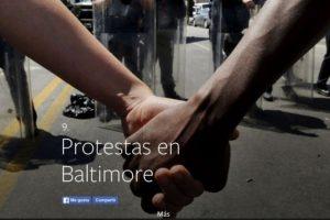 9- Protestas en Baltimore. Foto:vía Facebook.com. Imagen Por: