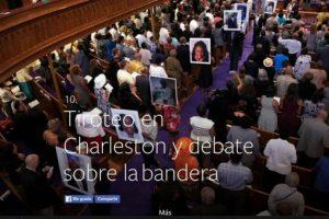 10- Tiroteo en Charleston y debate sobre la bandera. Foto:vía Facebook.com. Imagen Por: