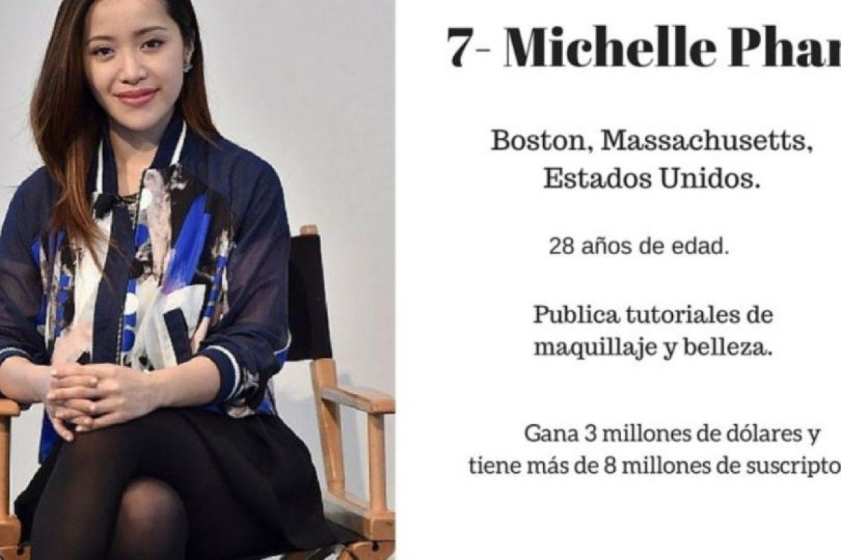 7- Michelle Phan: 3 millones de dólares. Foto:Especial / Getty Images. Imagen Por: