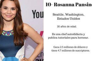 10- Rosanna Pansino: $2.5 millones de dólares. Foto:Especial / Getty Images. Imagen Por:
