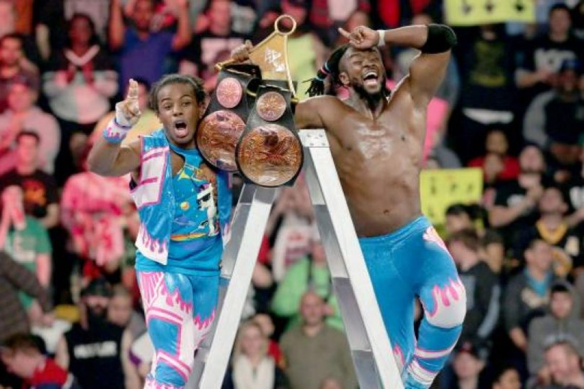 The New Day se impuso en el combate Foto:WWE. Imagen Por: