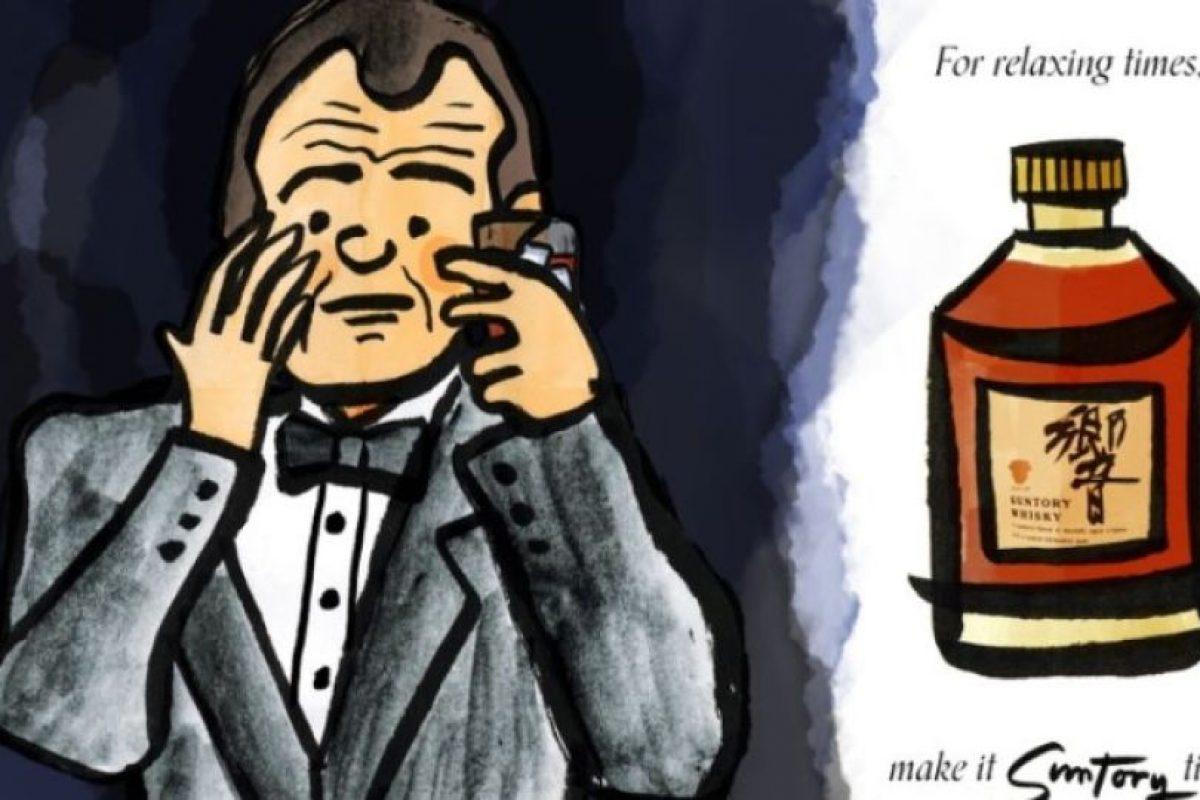 """Basta raspar en una página y oler el whisky del personaje de Murray de """"Perdidos en Tokio"""". Foto:Sugai Books. Imagen Por:"""
