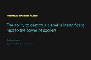 No tendrán que preocuparse por los spoilers. Foto:vía Chrome Store. Imagen Por: