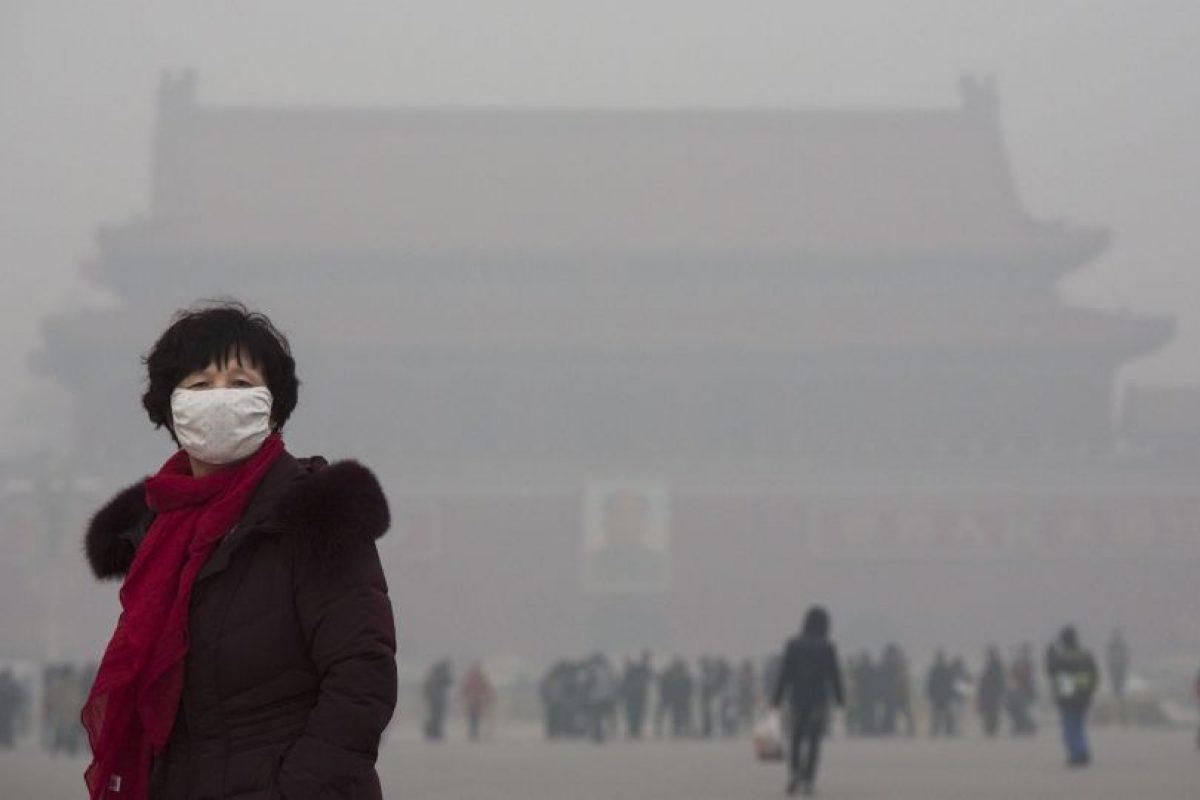 """13 veces más que los 25 microgramos por metro cúbico de aire que la Organización Mundial de la Salud establece como """"seguro"""". Foto:Getty Images. Imagen Por:"""